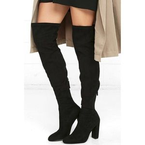 Steve Madden Faux Suede Over Thigh High Boots 8